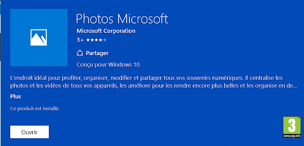 appli photos de microsoft