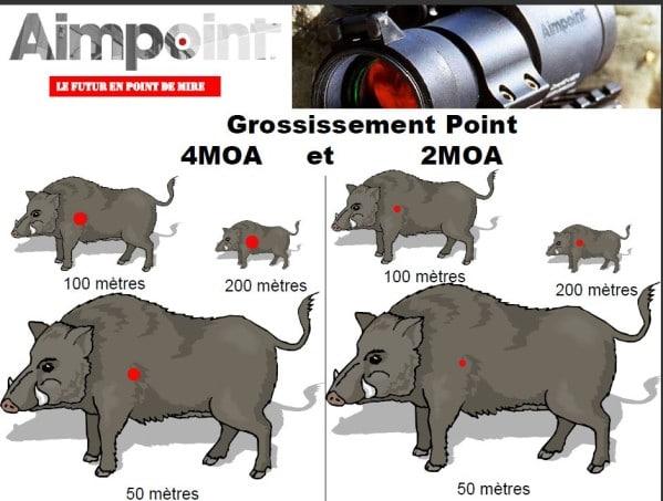 Aimpoint 2 MOA vs 4 MOA