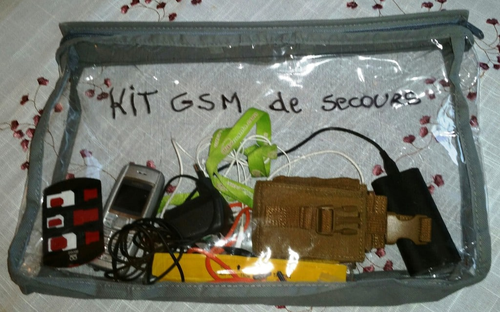 kit telephone de secours gsm