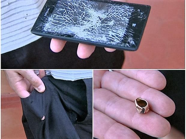 policier sauvé par son mobile