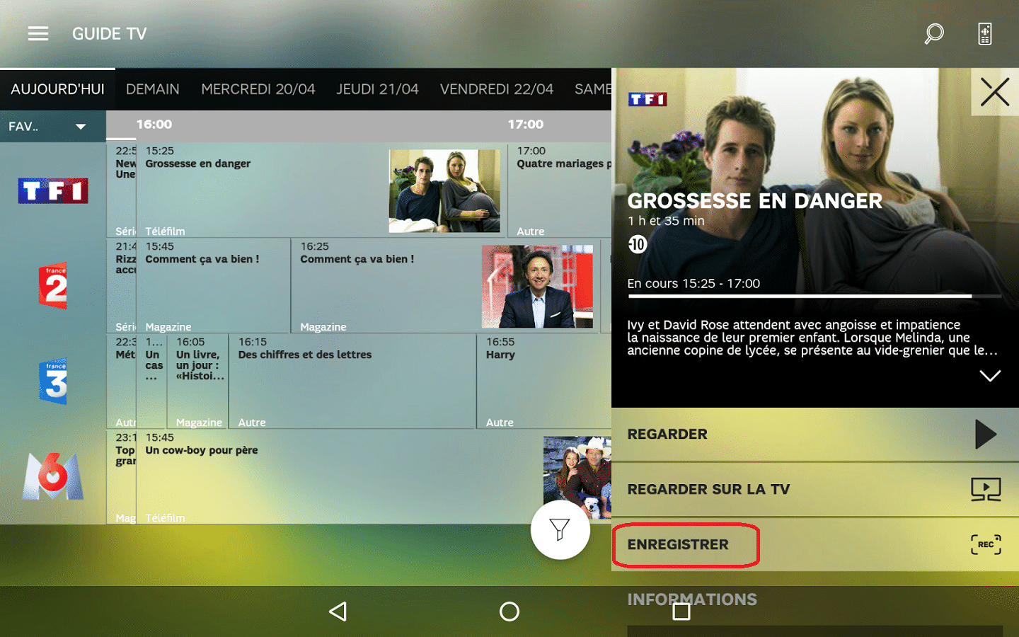 sfr tv android