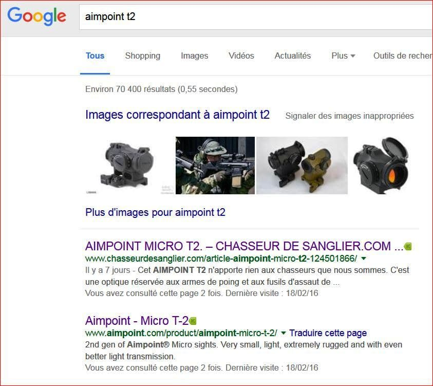 aimpoint t2 recherche google