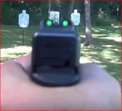 glock visée trois points trijicon vert
