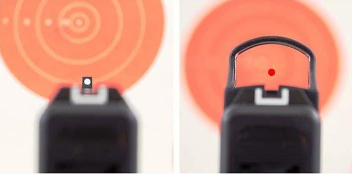 optique ou guidon hausse pour pistolet glock