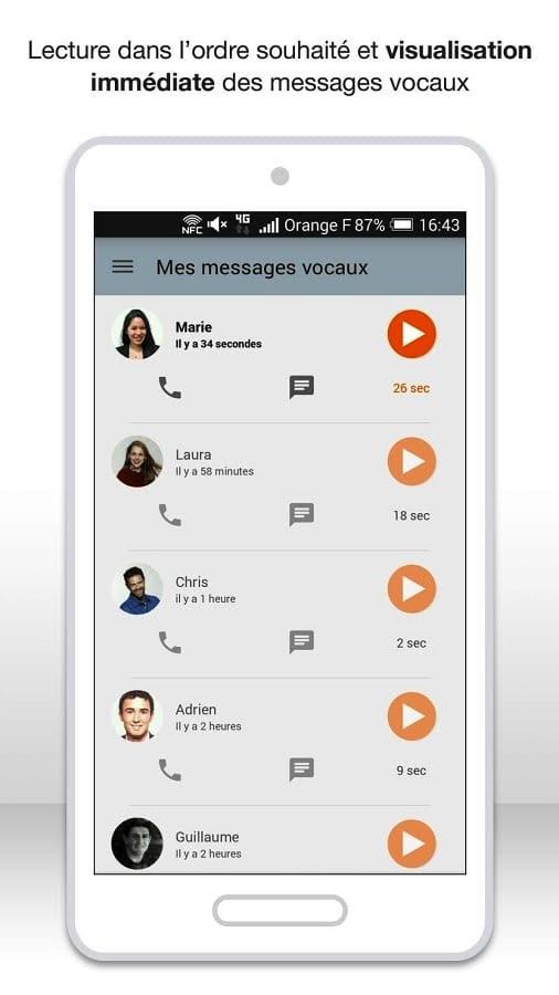 messagerie vocale visuelle orange