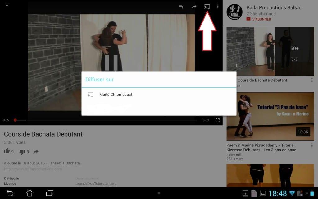 chromecast 2 sur tablette chromecast renommé