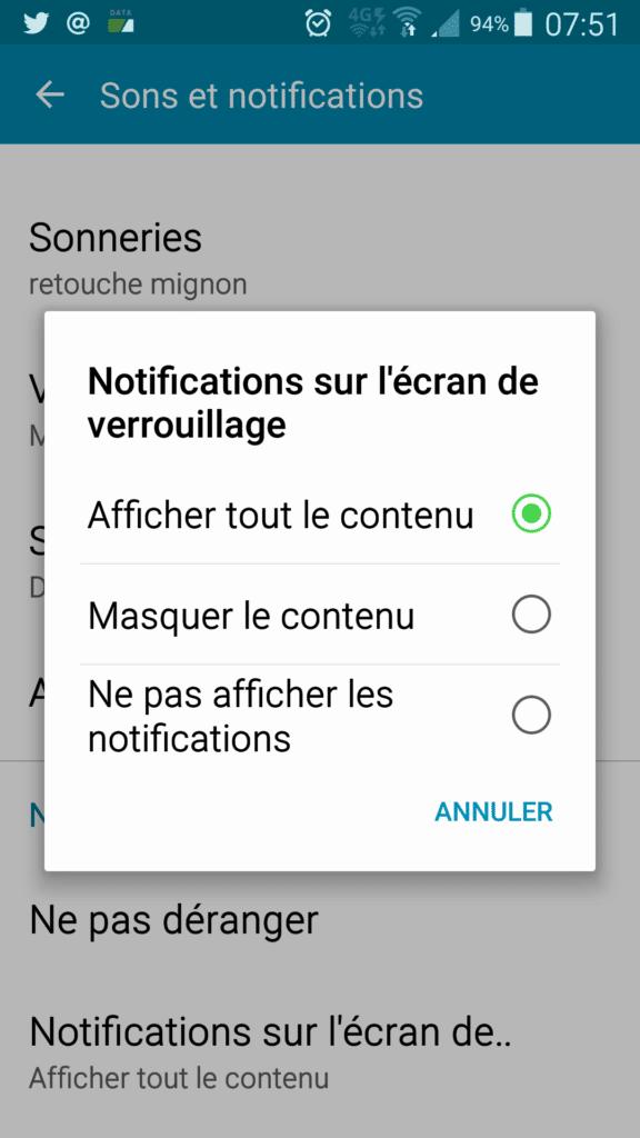 notification écran de verrouillage 2